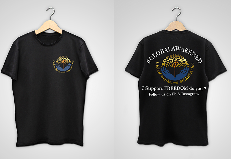 gaii front and back black